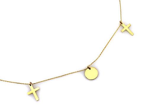 złoty łańcuszek celebrytka